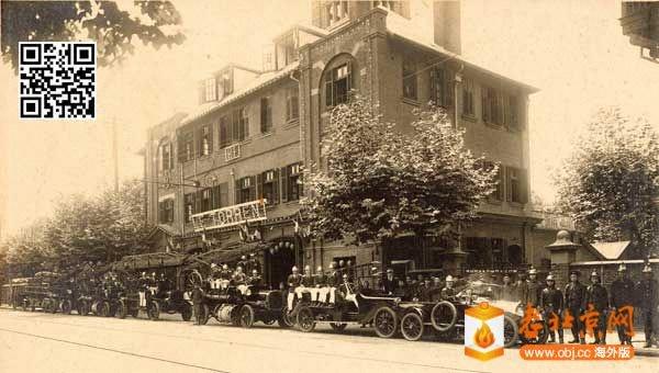 1921年上海法租界的救火队,英明照相馆摄.jpg