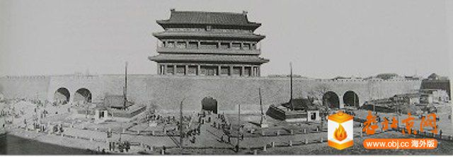 1916年正阳门瓮城已拆除关公庙观音庙还在.jpg