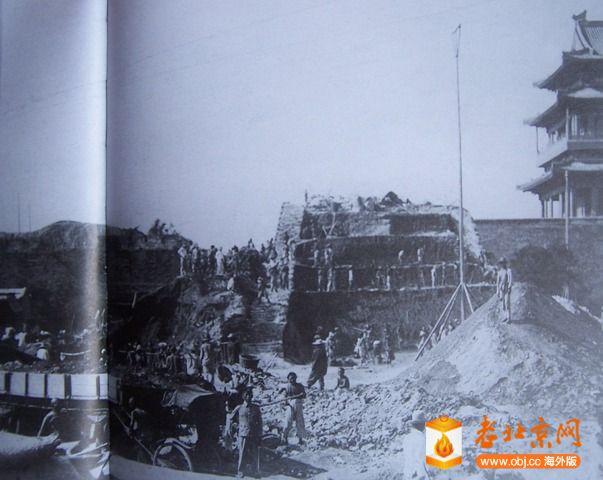 1915拆卸西瓮城京汉火车装卸砖土情况.JPG