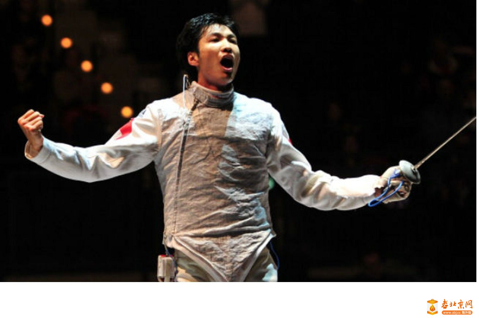 Chinese fencer Lei Sheng, who.will carry the country's national flag at the ...