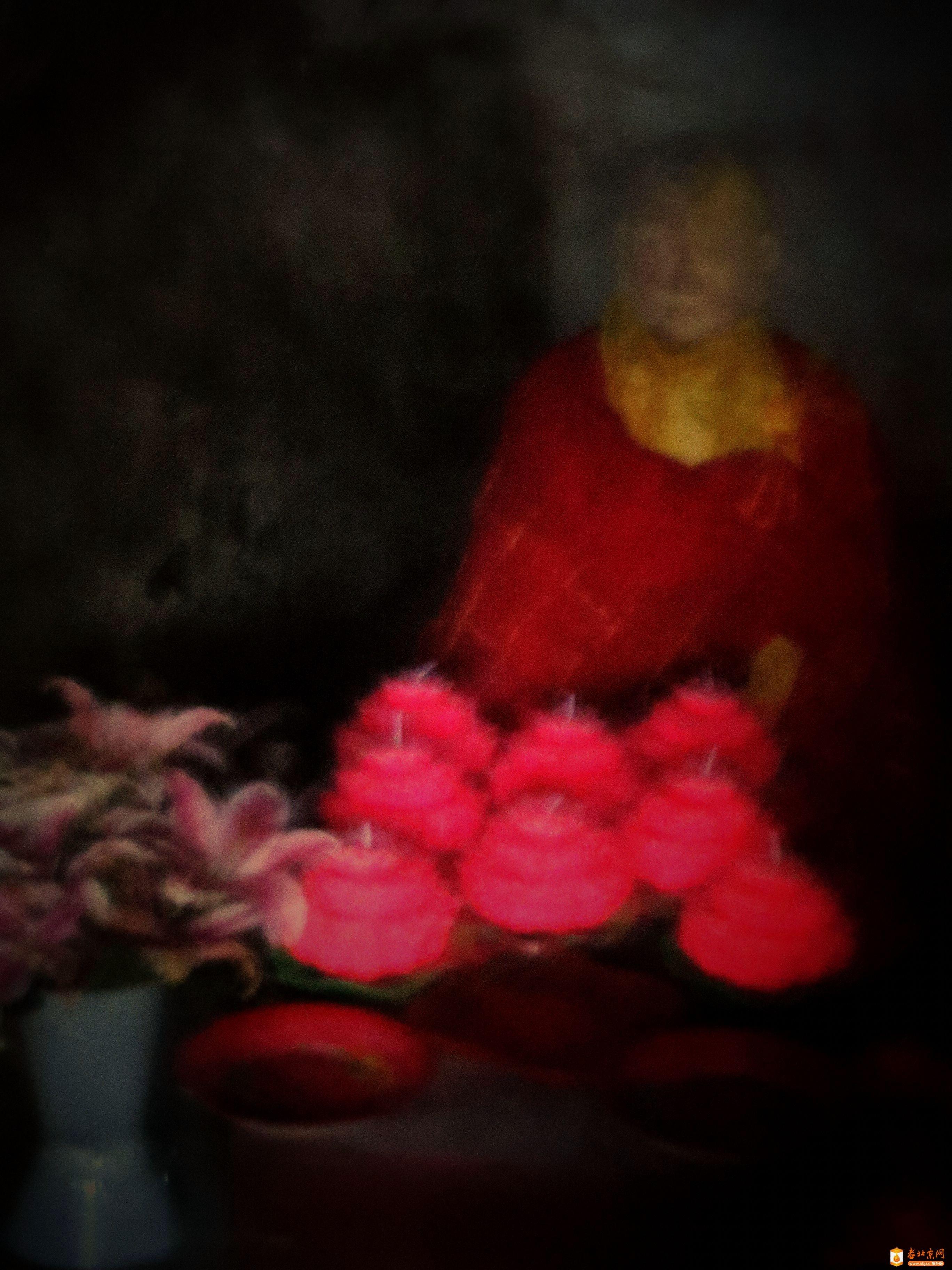 北京潭柘寺因亮法师肉身坐像
