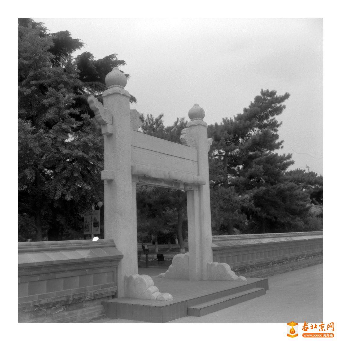 回忆中的公园,黑白照