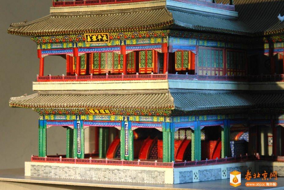 颐和园 德和园戏楼 纸模型