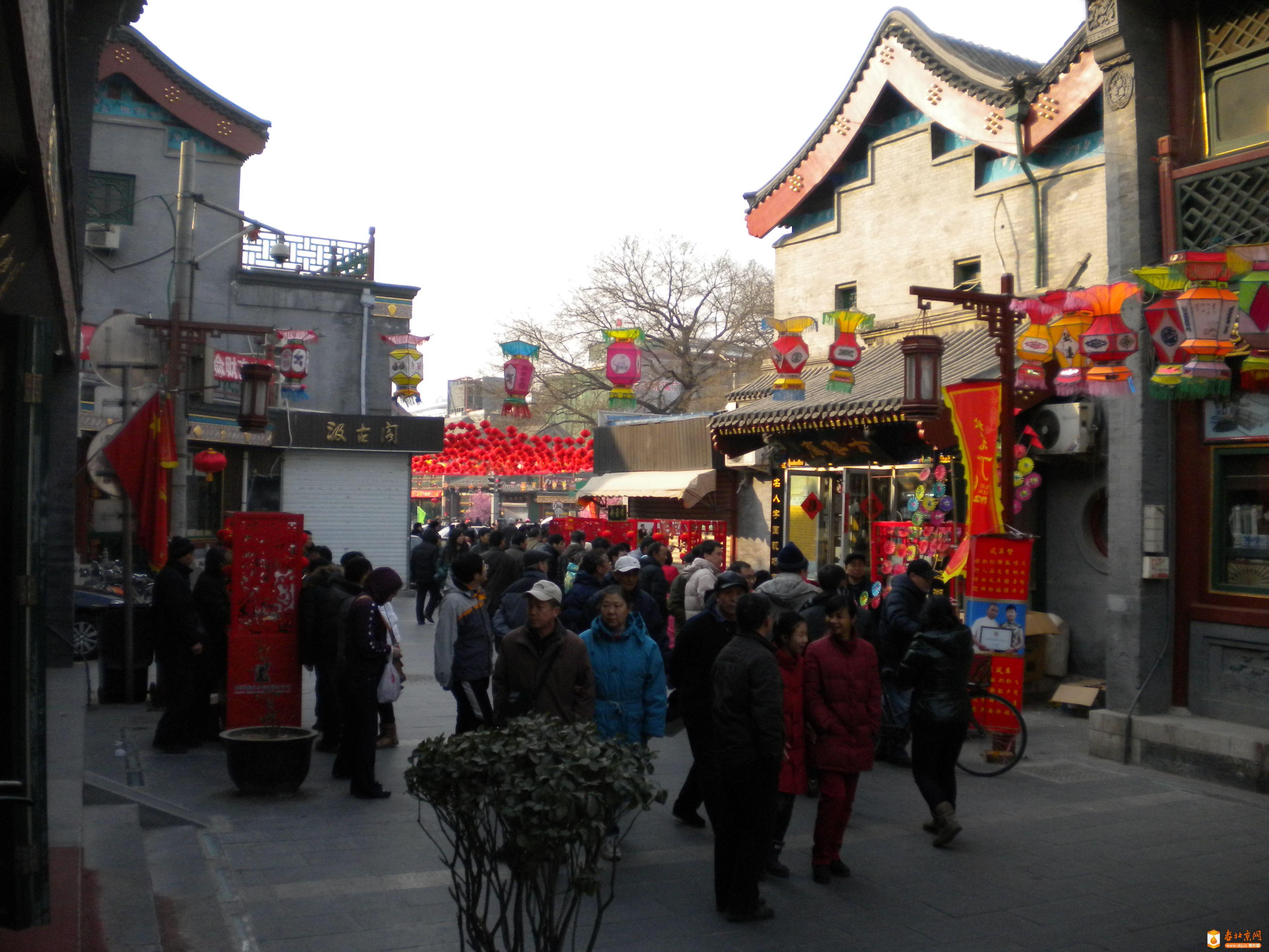 2012年1月27日(壬辰年正月初五),东琉璃厂西段(向西拍摄)⑵