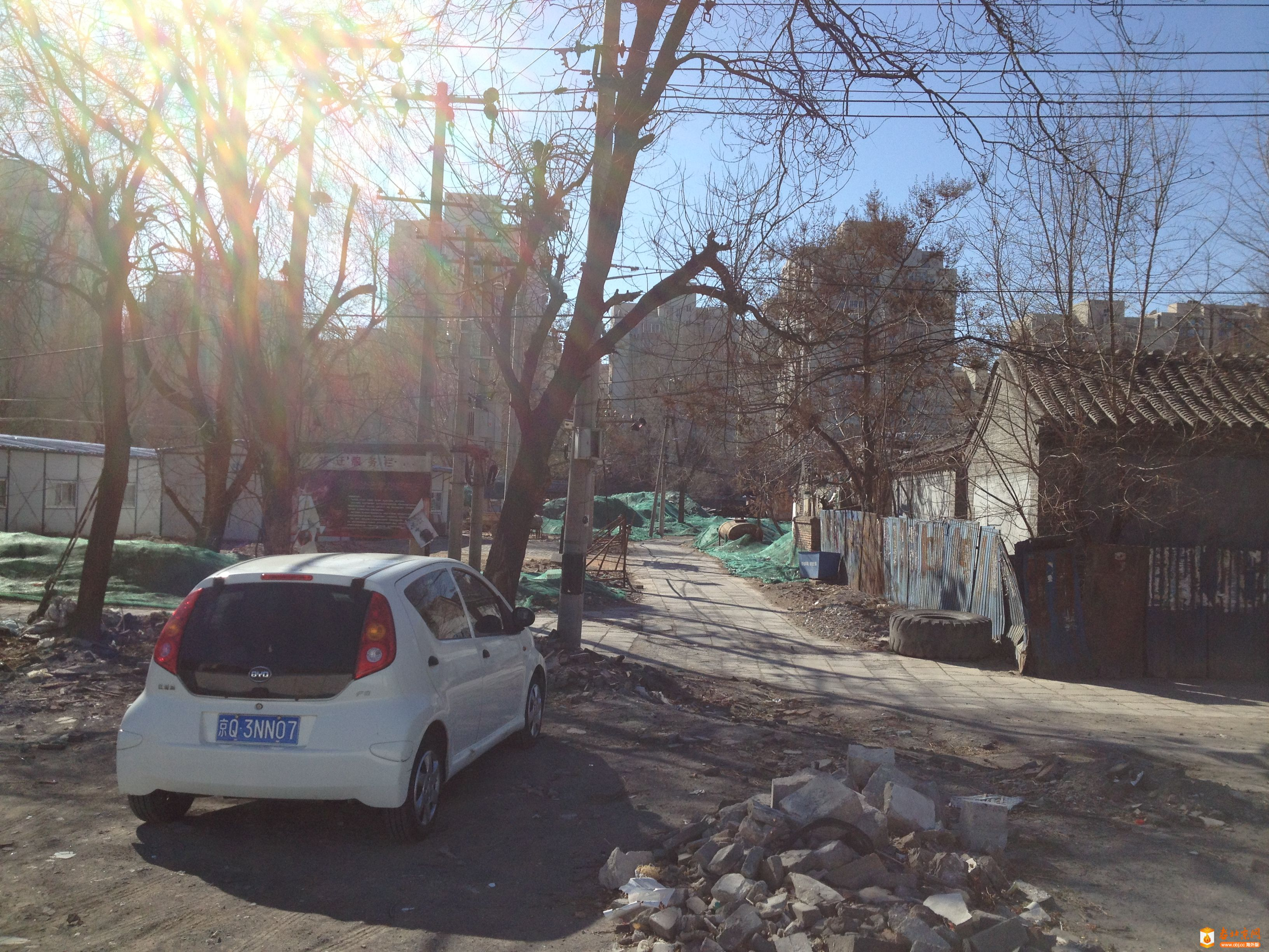 2016年2月20日上午,后清厂胡同北口。