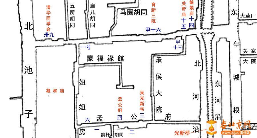 图解老北京门牌号码的编制方式