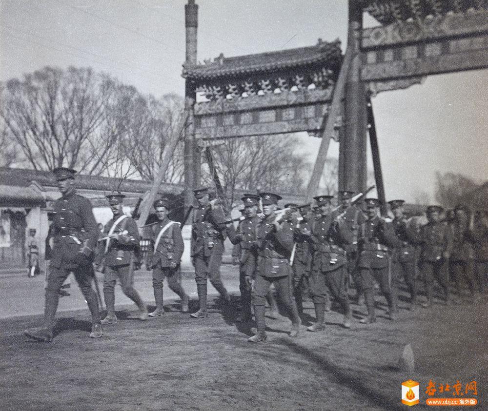 暴动之后的北京英国士兵1912
