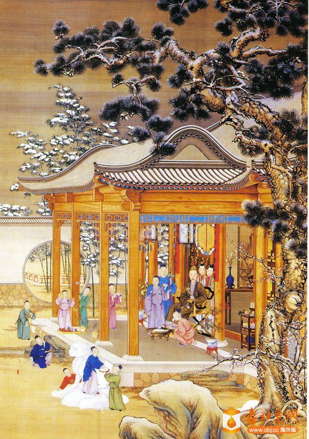 复件 11图:皇子在乾隆面前放鞭炮,郎世宁绘于圆明园 .jpg