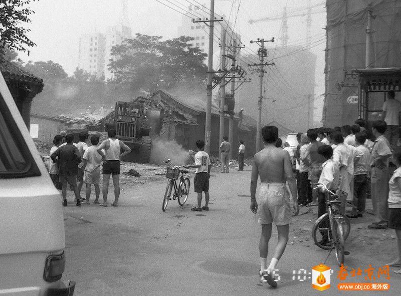刘景行1996.6.25.北京阜外大街一所魏家私人四合院被强拆11,这种强拆叫做杀一儆百,对.jpg