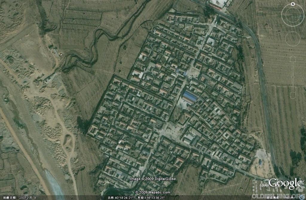 明十三陵一些陵监的卫星图