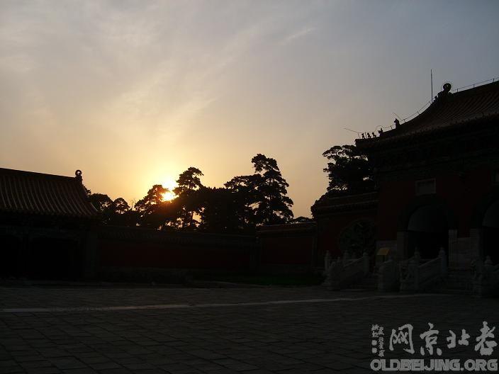 夕阳下,孝庄太后衣冠冢前遛一个弯 帝都陵寝爱好者中心 服务器里的