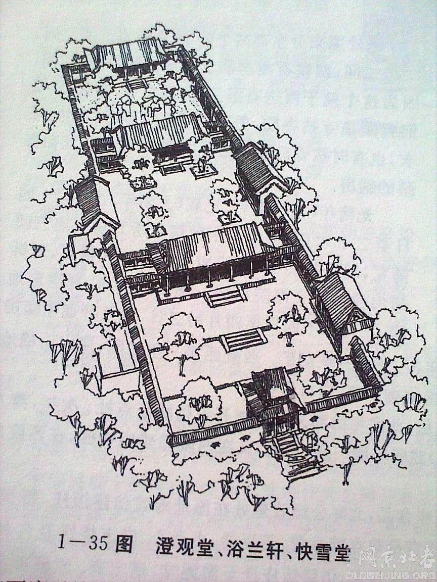 [贴图]北海建筑手绘线图大全