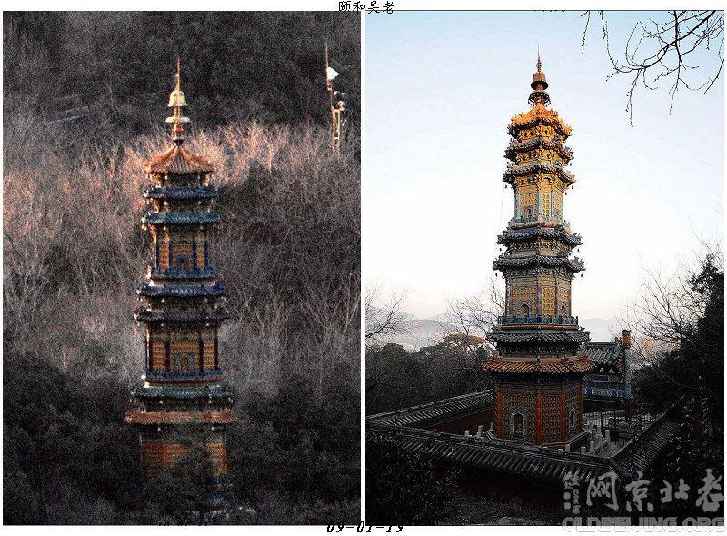 圣缘寺琉璃塔是过去用400镜头拍的
