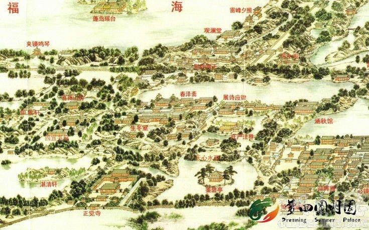 圆明园全景图(张宝成版)图片