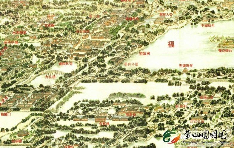 圆明园全景图(张宝成版)
